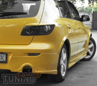 Внешние пороги для Mazda 3 hatchback (фото)