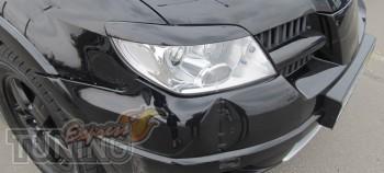 Установка ресничек на фары Mitsubishi Outlander 1