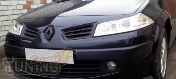 Реснички на передние фары для Рено Меган 2 (купить комплект пере