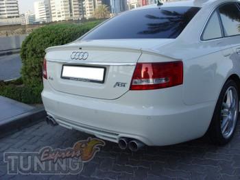 Спойлер на багажник Ауди А6 С6 (задний спойлер Audi A6 C6)