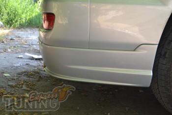 Задние аэродинамический клыки на бампер Тойота Ленд Крузер Прадо