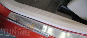 Накладки на пороги Додж Калибер (защитные накладки Dodge Caliber