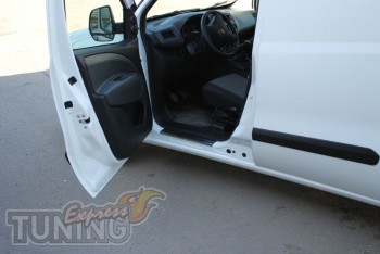 Накладки на пороги для авто Фиат Добло 2 Карго Макси (защитные н