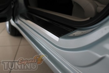 Накладки на пороги для авто Хонда Цивик 9 4Д (защитные накладки