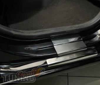 купить Накладки на пороги Хонда Джаз 2 (защитные накладки Honda