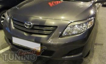 Тюнинг реснички на фары Toyota Corolla седан (фото ExpressTuning