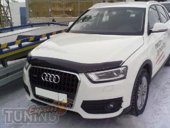 Мухобойка капота Ауди Q3 (дефлектор на капот Audi Q3)