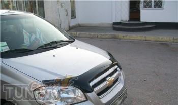 Мухобойка капота Шевроле Авео Т250 (дефлектор на капот Chevrolet