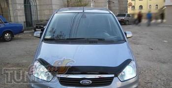 Дефлектор капота Форд С-Макс 1 рестайл (мухобойка на капот Ford