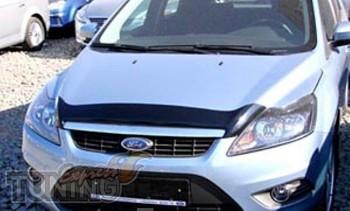 Мухобойка Ford Focus 2 рестайлинг (дефлектор капота Форд Фокус 2