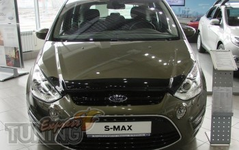 Дефлектор капота Форд S-Max 1 рестайлинг (мухобойка на капот For