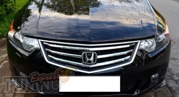 Мухобойка капота Хонда Аккорд 8 (дефлектор на капот Honda Accord