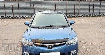 Мухобойка капота Хонда Цивик 8 седан (дефлектор на капот Honda C