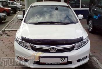 Мухобойка капота Хонда Цивик 9 седан (дефлектор на капот Honda C
