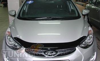 Мухобойка капота Хендай Элантра 5 МД (дефлектор на капот Hyundai