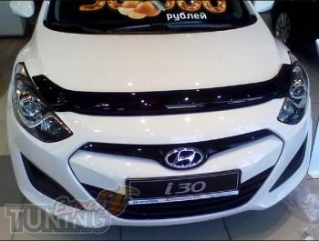 Мухобойка капота Хендай i30 2 GD (дефлектор на капот Hyundai i30