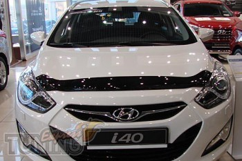Мухобойка капота Хендай Ай 40 (дефлектор на капот Hyundai i40)