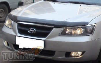 Мухобойка капота Хендай Соната 5 НФ (дефлектор на капот Hyundai