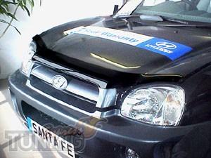 Мухобойка капота Хендай Санта Фе 1 (дефлектор на капот Hyundai S