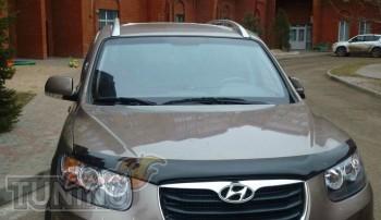 дефлектор на капот Hyundai Santa Fe 2 CM)
