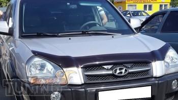 Мухобойка капота Хендай Туксон 1 (дефлектор на капот Hyundai Tuc