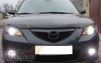 дефлектор на капот Mazda 3 BK