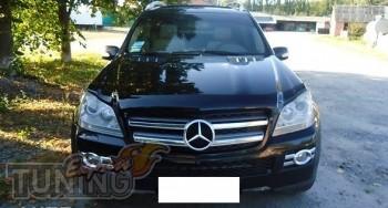 Мухобойка капота Мерседес GL 164 (дефлектор на капот Mercedes GL