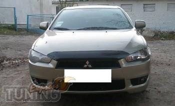 дефлектор на капот Mitsubishi Lancer X короткий)