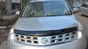 Дефлектор капота Ниссан Мурано Z50 (мухобойка Nissan Murano Z50)