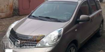 Мухобойка капота Ниссан Ноут 1 (дефлектор на капот Nissan Note 1