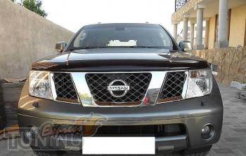 дефлектор на капот Nissan Navara D40)