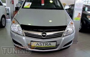 Мухобойка капота Опель Астра Н (дефлектор на капота Opel Astra H