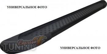 Пороги Fiat Doblo 2 (пороги для Фиат Добло 2 дизайн Almond черны