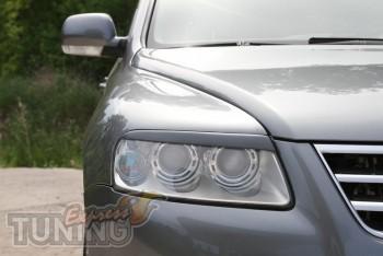Комплект тюнинг ресничек на фары Volkswagen Touareg 1 (купить со