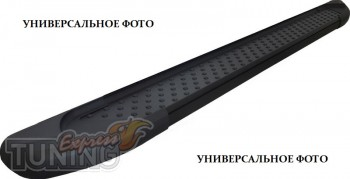 Пороги Fiat Doblo (пороги на Фиат Добло дизайн Almond черные)