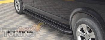 купить Пороги Fiat Doblo (пороги на Фиат Добло дизайн Almond чер