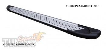 Пороги Хендай Н1 (пороги для Hyundai H1 стиль Almond серые)