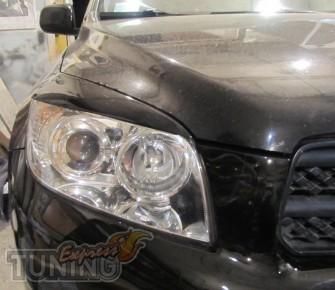 Установка реснички на фары Toyota Rav 4 (тюнинг оптики Рав 4)