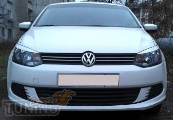 Купить реснички на фары VW Polo 5 (верхние реснички Фольксваген