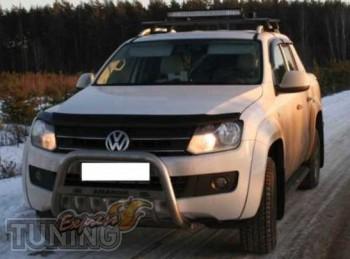 Дефлектор капота Фольксваген Амарок (мухобойка Volkswagen Amarok