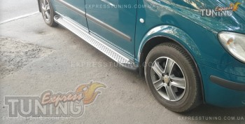 Пороги на Mercedes Vito W639 стиль Almond серые