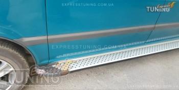 купить Пороги Mercedes Vito W639 стиль Almond серые