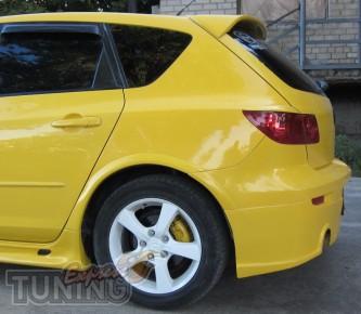 Установка заднего спойлера Mazda 3 Hatchback