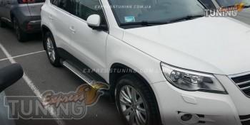 силовые пороги Volkswagen Tiguan стиль Almond серые)