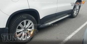 подножки Volkswagen Tiguan стиль Almond серые)