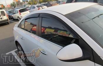 Ветровики Chevrolet Cruze 1 седан (дефлекторы окон Шевроле Круз