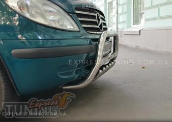защита переднего бампера Mercedes Vito W639
