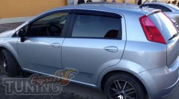 Ветровики Fiat Grande Punto 5d (дефлекторы окон Фиат Гранде Пунт