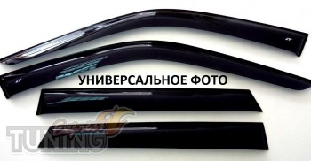 Ветровики Форд Фокус 2 седан (дефлекторы окон Ford Focus 2 sedan