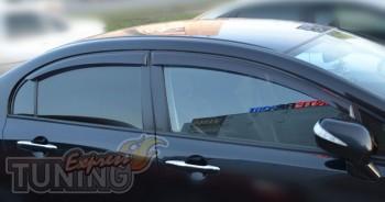 Ветровики Хонда Цивик 8 (дефлекторы окон Honda Civic 8)